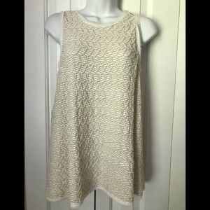 Anthropologie Tunic Top Postmark Stamp 9-H15 S'CL